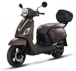 Scooter Sym Fiddle III 200i ABS καφέ ματ με βαλίτσα