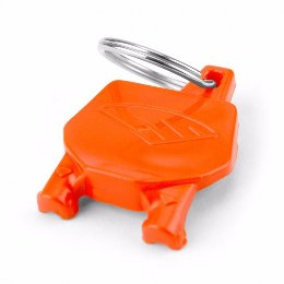 Cycra Number Plate Keyrings Orange