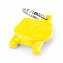 Cycra Number Plate Keyrings Yellow