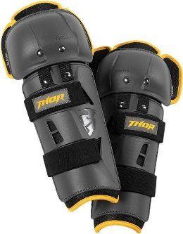 Επιγονατίδες Παιδικές Thor Youth Sector GP Knee Guard Charcoal/Yellow 2019