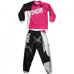 Thor Activ Pajama Youth Girl Pink/Black 2017 Νεανικές Πιτζάμες