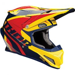 THOR SECTOR OFFROAD HELMET RICOCHET NAVY/YELLOW/RED 2018