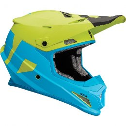 THOR SECTOR OFFROAD HELMET MAT LEVEL BLUE/LIME 2018