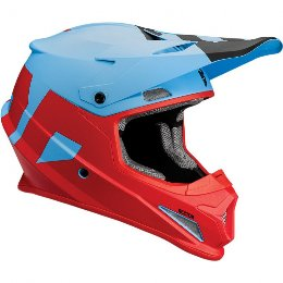 THOR SECTOR OFFROAD HELMET MAT LEVEL BLUE/RED  2018