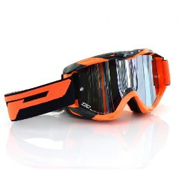 Pro Grip 3450 Fluo Multilayered Offroad Goggles Fluo Orange/Black Lens Mirrored Smoke