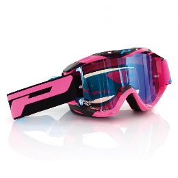 Pro Grip 3450 Fluo Multilayered Offroad Goggles Fuxia/Black Lens Mirrored Clear