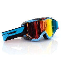 Pro Grip 3450 Fluo Multilayered Offroad Goggles Light Blue/Black Lens Mirrored Orange