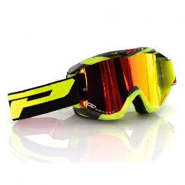 Pro Grip 3450 Fluo Multilayered Offroad Goggles Fluo Yellow/Black Lens Mirrored Orange