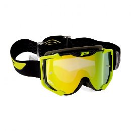 Pro Grip 3404 Menace Multilayered Offroad Goggles Black/Yellow Lens Mirrored Yellow