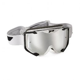 Pro Grip 3404 Menace Multilayered Offroad Goggles White/Black Lens Mirrored White
