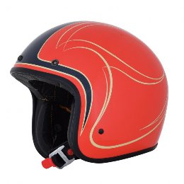 AFX Fx-76 Claymora Vintage Helmet Gloss Orange-Blue-Beige