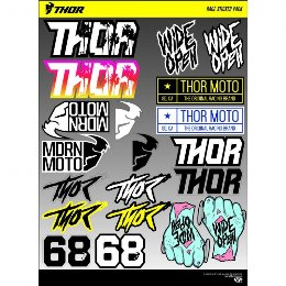 Αυτοκόλλητα - Thor Decal Sheet Race Sticker Pack 2018