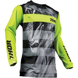 Μπλούζα offroad - mx Thor Pulse Savage Big Kat Black/Lime Jersey '19