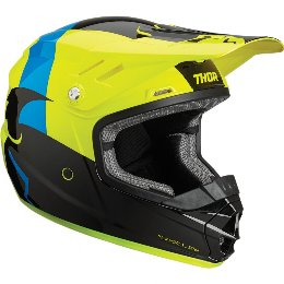 Κράνος Παιδικό Thor Youth Sector Shear Black/Acid Helmet '19